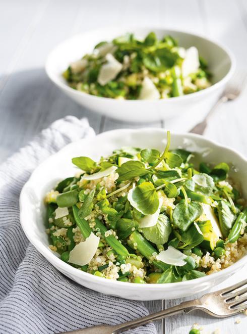 salade-quinoa-epinard-parmesan-haricot